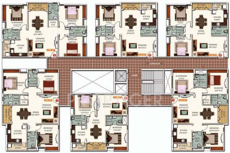 dynasty Images for Cluster Plan of Saroj Dynasty