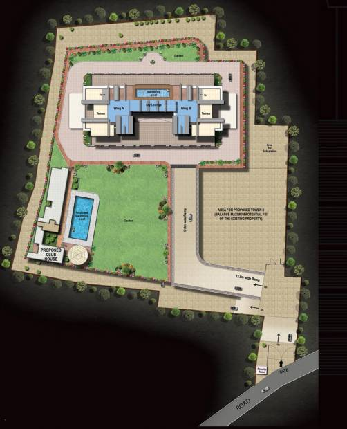 imperia-i Images for Site Plan of Raheja Imperia I