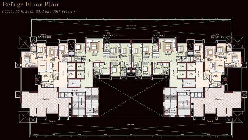 Images for Cluster Plan of Raheja Imperia I