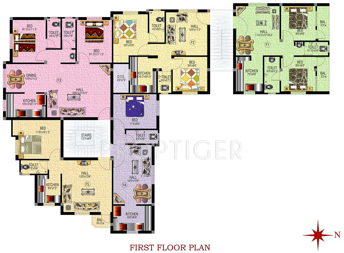 639 sq ft 2 bhk 2t apartment for sale in sm builders for Royal homes house plans