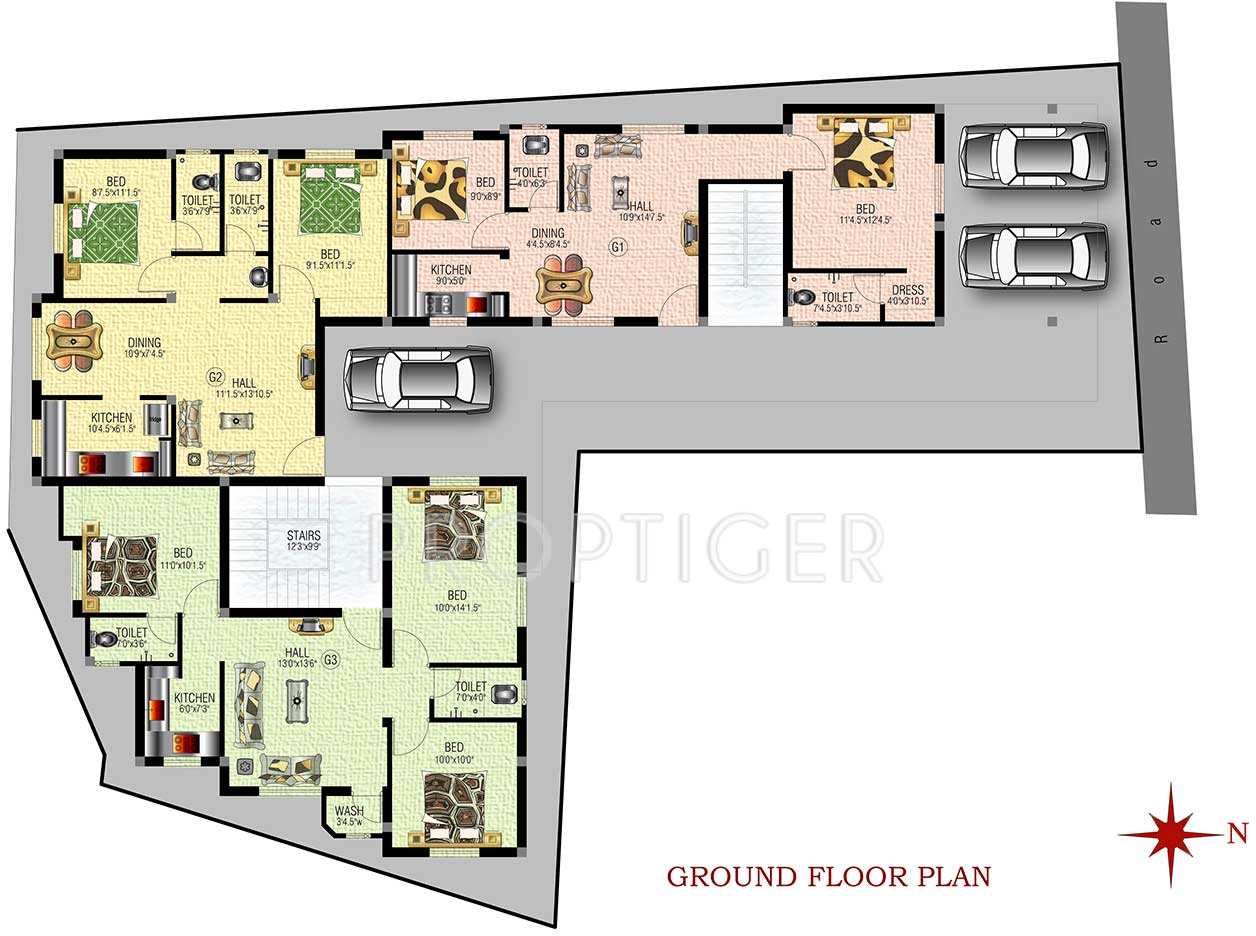 639 Sq Ft 2 Bhk 2t Apartment For Sale In Sm Builders