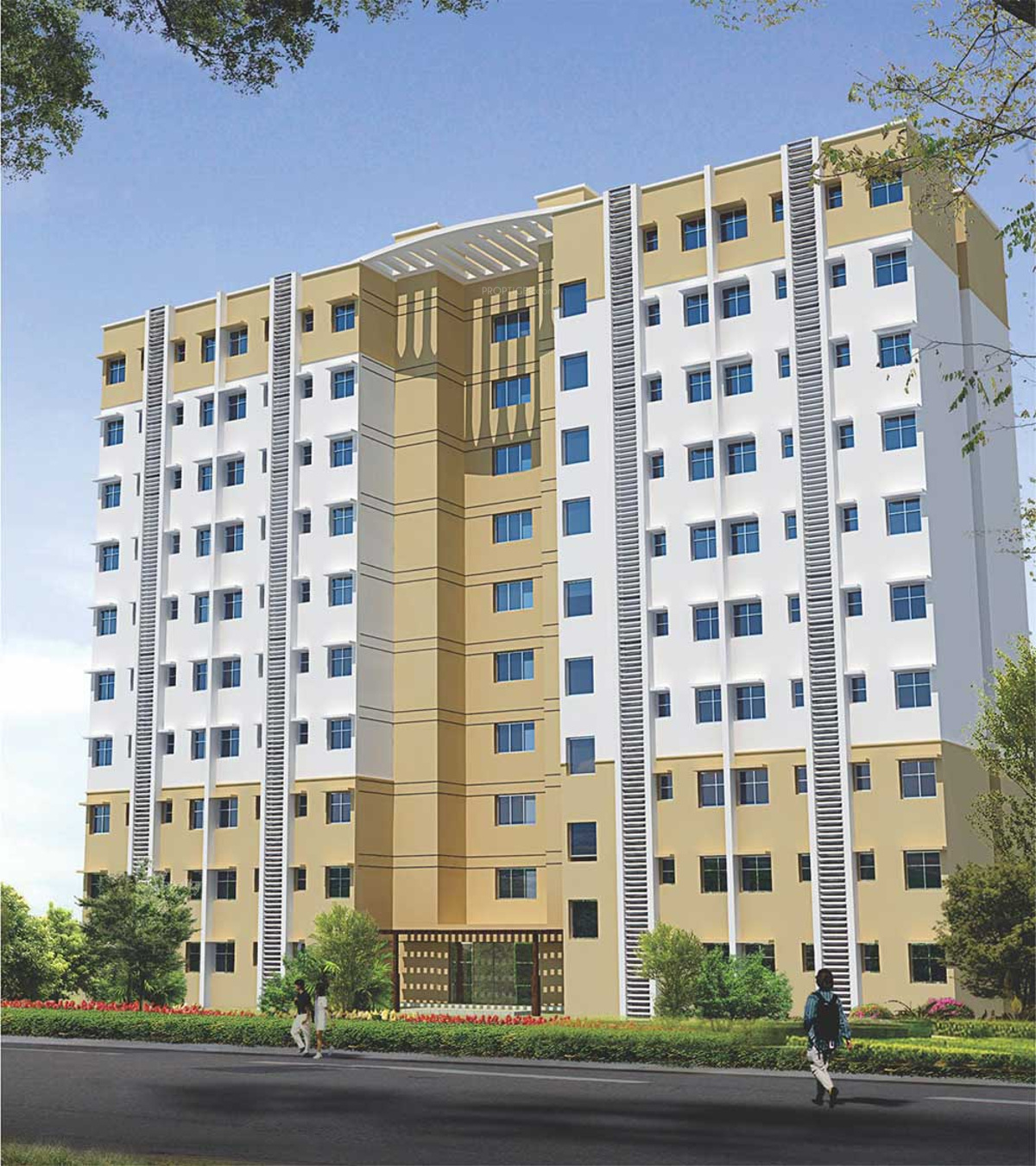 Apartment Interior Elevation: 300 Sq Ft 1 BHK 1T Apartment For Sale In Omaxe Service