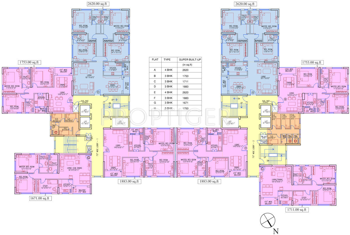 1276 Sq Ft 2 Bhk 2t Apartment For Sale In Ruchi Realty