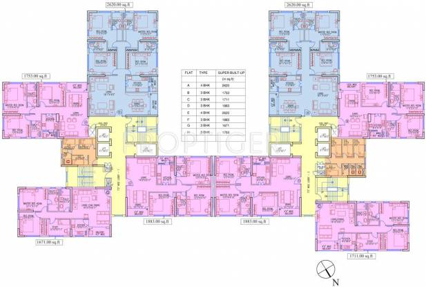 Images for Cluster Plan of Ruchi Active Acres