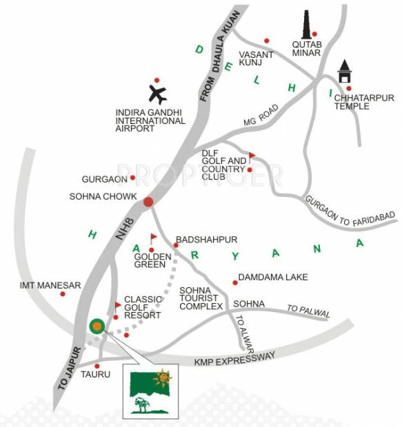 Images for Location Plan of Silverglades Tarudhan Valley Golf Resort