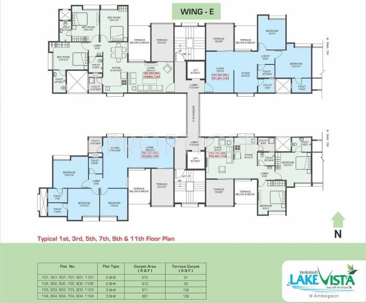 Images for Cluster Plan of Venkatesh Lake Vista