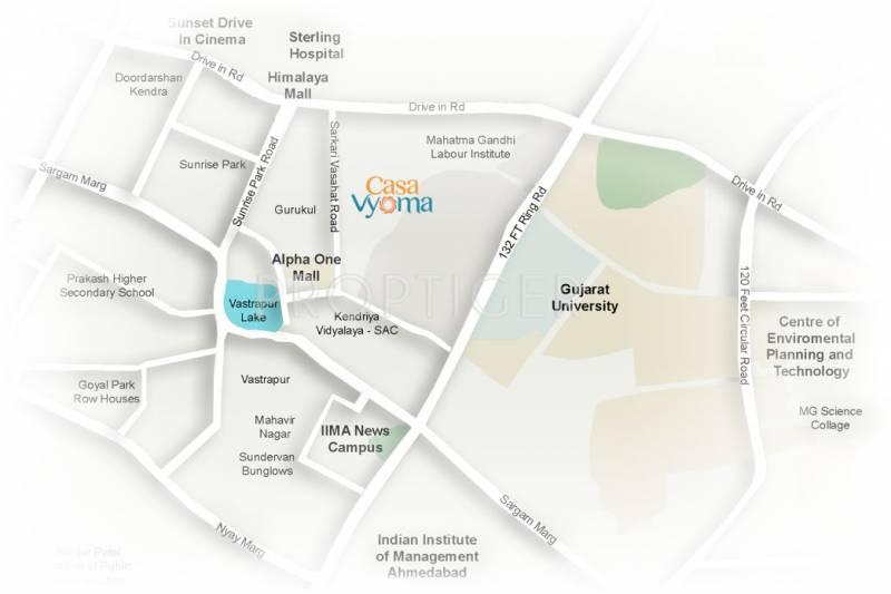 casa-vyoma Images for Location Plan of Ajmera And Sheetal Casa Vyoma