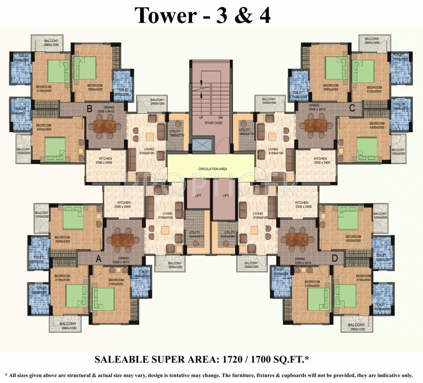 1075 sq ft 2 bhk 2t apartment for sale in shiv sai vatika for Apartment floor plans for sale