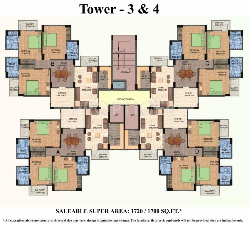 4 bhk plan layout 1075 sq ft 2 bhk 2t apartment for sale in shiv sai vatika