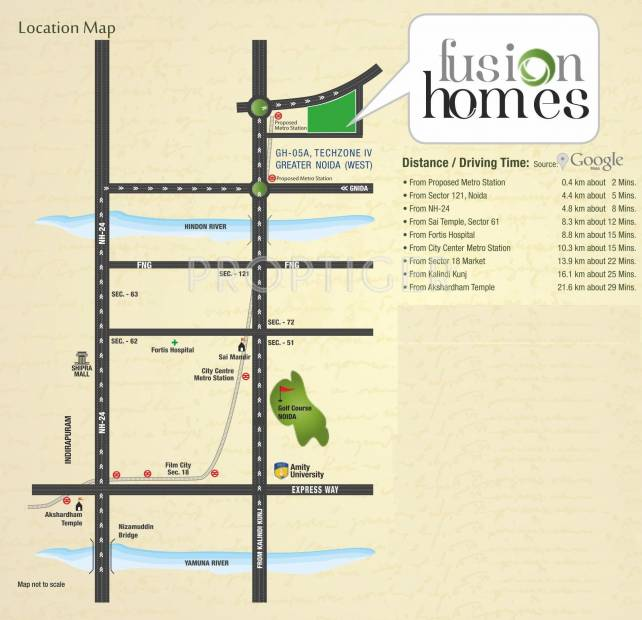 homes Images for Location Plan of Fusion Homes