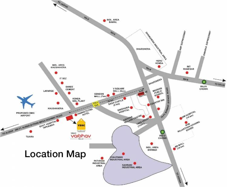 Images for Location Plan of VBHC Vaibhav Plots