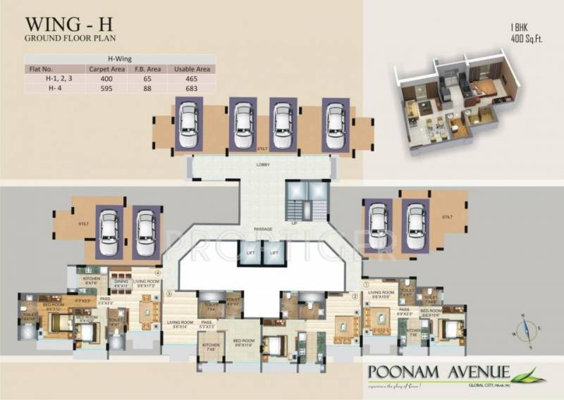 avenue Images for Cluster Plan of Poonam Avenue