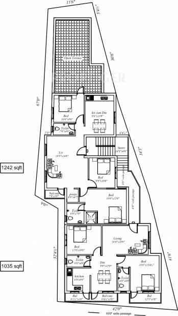 Images for Cluster Plan of Suprabhatham Vembuliamman Kovil Street