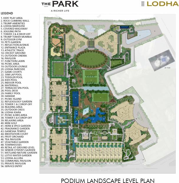 Images for Site Plan of Lodha Park