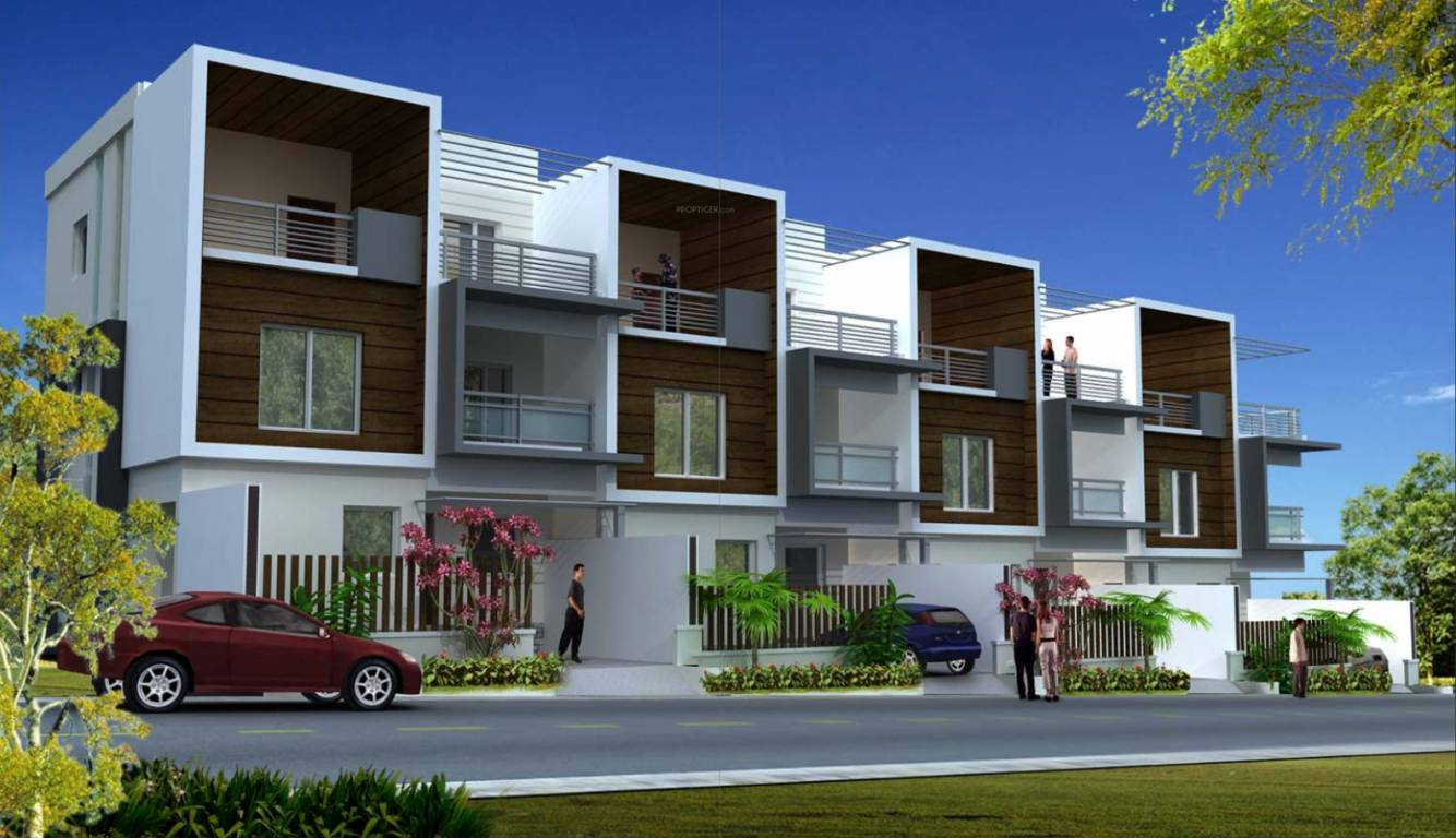 Rooshna majestic villas in rajendra nagar hyderabad for Row house designs small lots