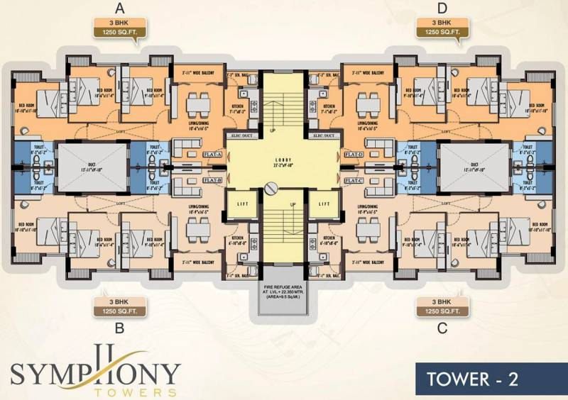 Images for Cluster Plan of Symphony Symphony Towers