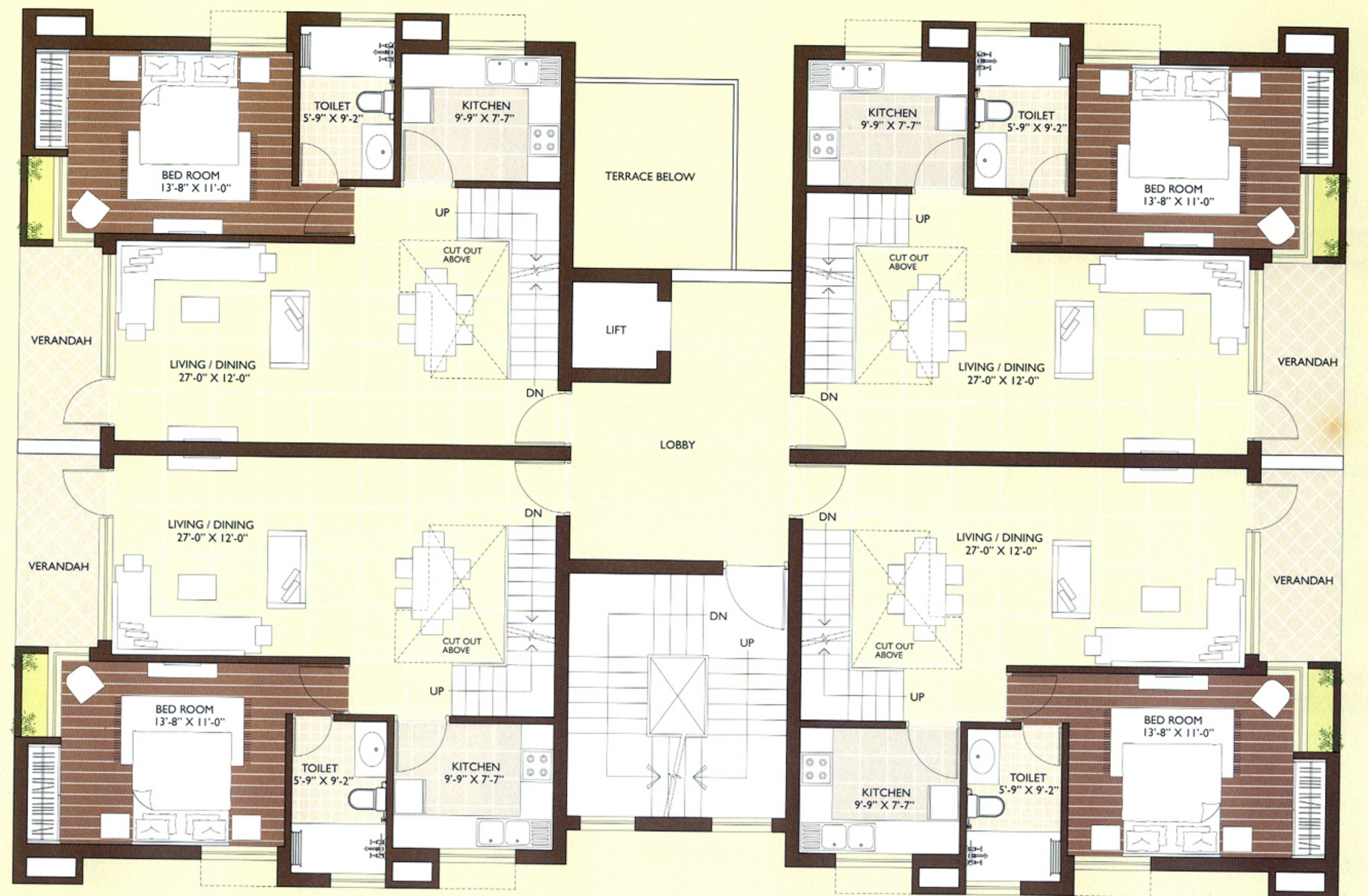 1825 sq ft 3 bhk 3t northeast facing resale apartment rs for Duplex apartment plans