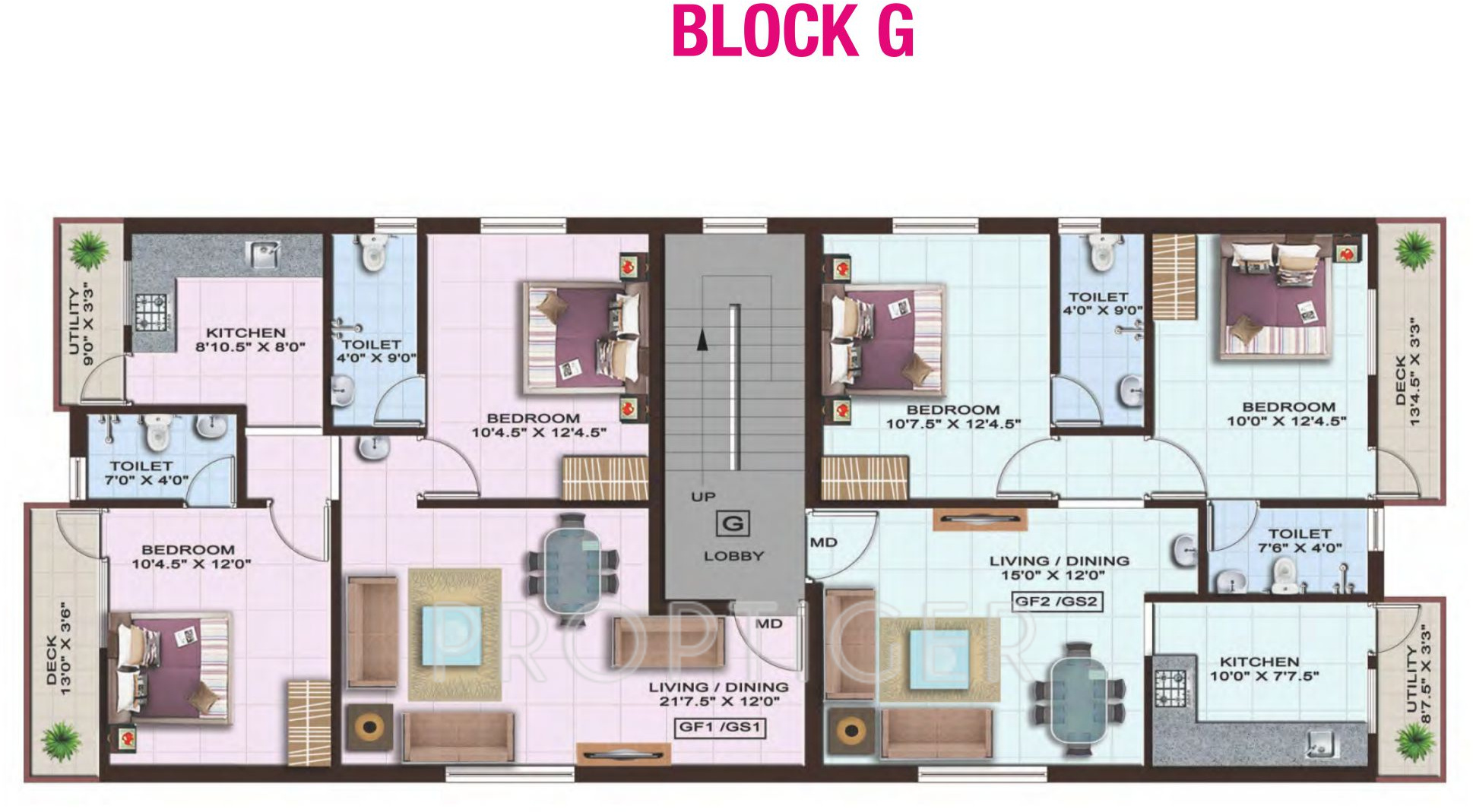 951 sq ft 2 bhk 2t apartment for sale in colorhomes gates