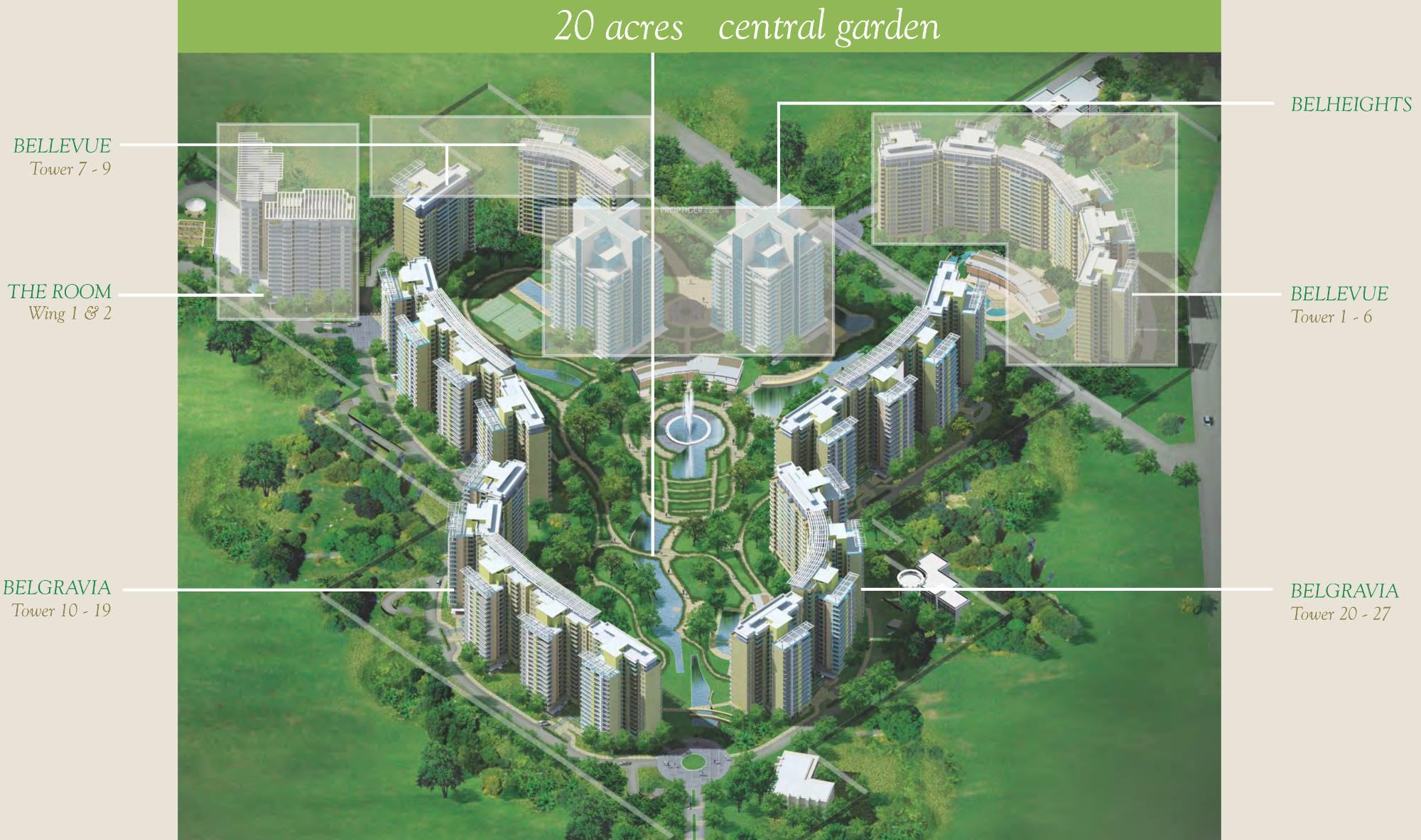 Resort Elevation Plan : Sq ft bhk floor plan image central park belgravia