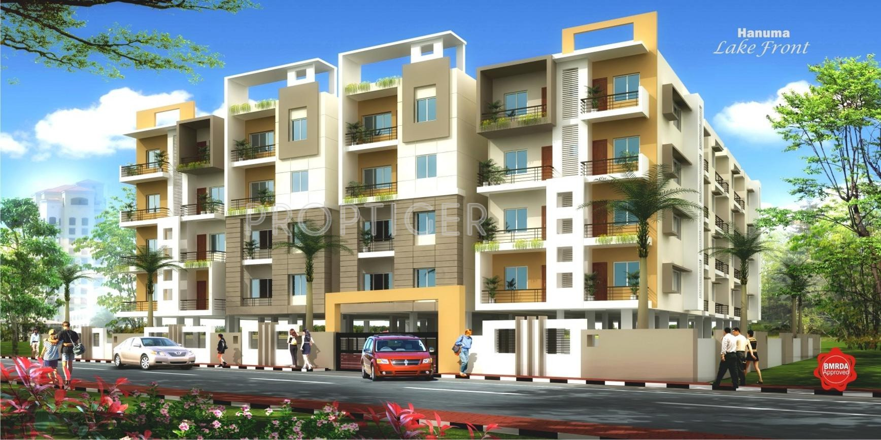 Play School Front Elevation : Sq ft bhk t apartment for sale in mdvr hanuma lake