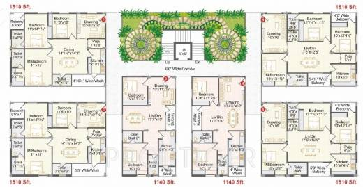 1075 sq ft 2 bhk 2t apartment for sale in ark homes for Survival home plans