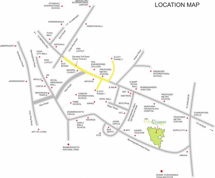veracruz Images for Location Plan of Jain Veracruz