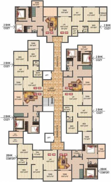 Images for Cluster Plan of Kohinoor Group Construction and Real Estate Saheel Elegance