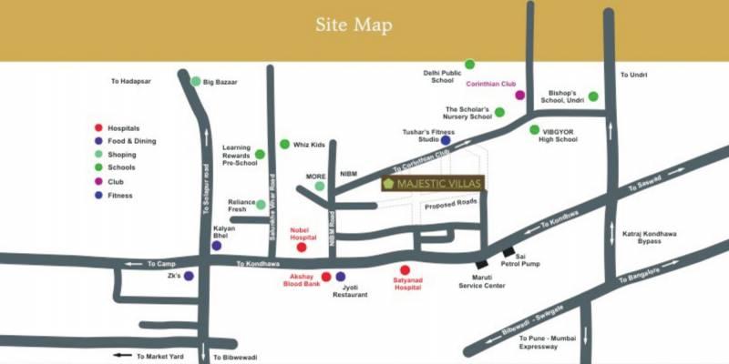majestic-villas Location Plan