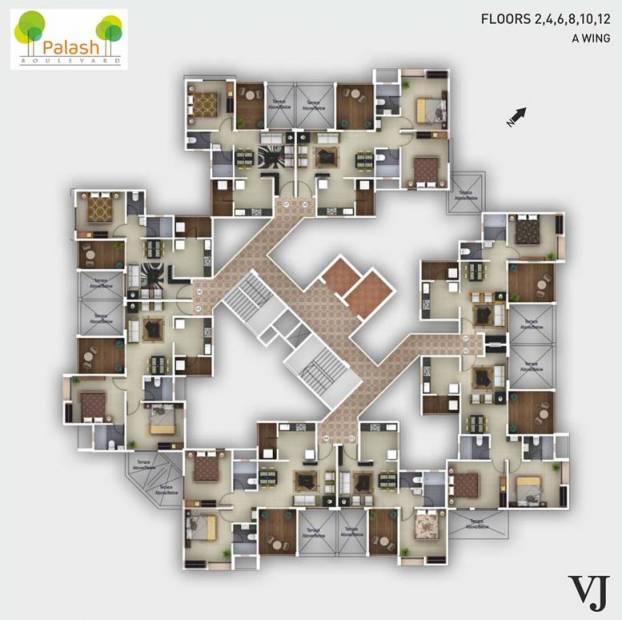 Images for Cluster Plan of Vilas Javdekar Palash Boulevard