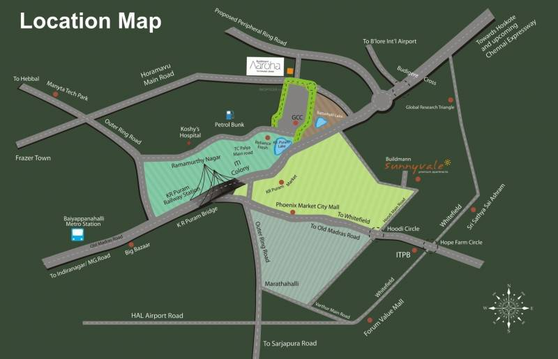 Images for Location Plan of Sukritha Aaroha Condominiums