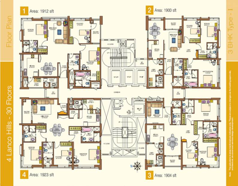 Images for Cluster Plan of Lanco Hills Apartments