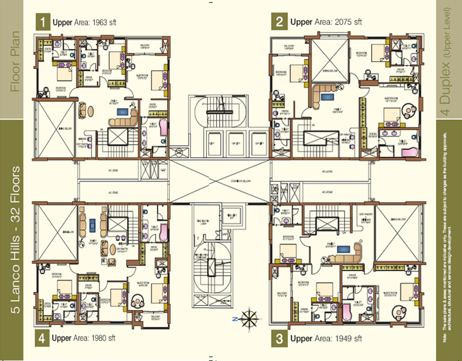 1570 sq ft 3 bhk 3t apartment for sale in lanco hills for Apartment plans hyderabad