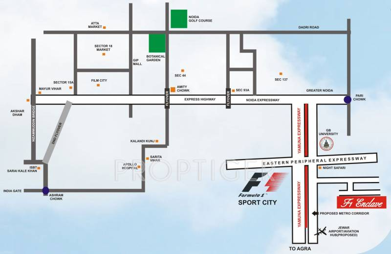 Images for Location Plan of Home Link Developers F1 Enclave