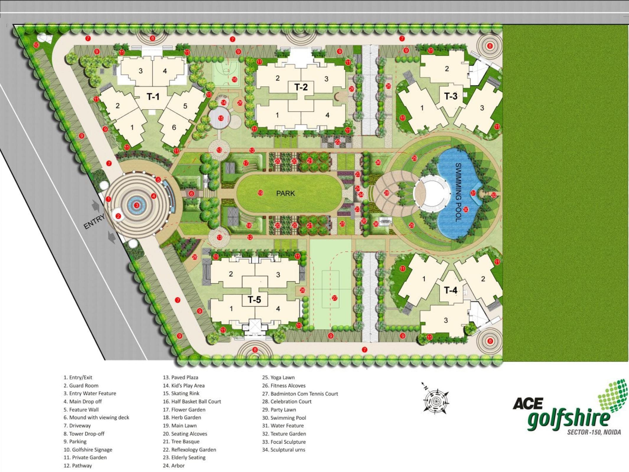 Ace Golfshire I Sector 150, Noida - Pris, beliggenhed kort-6081