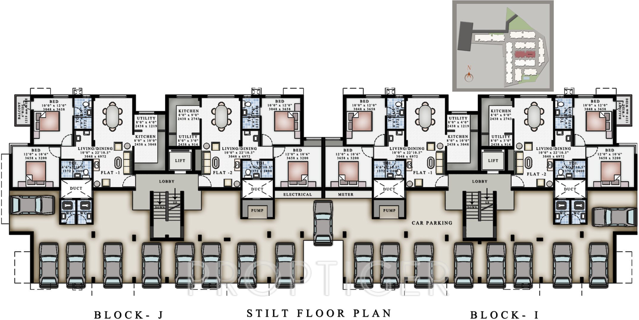 575 Sq Ft 2 BHK 2T Apartment For Sale In Ruby Builders