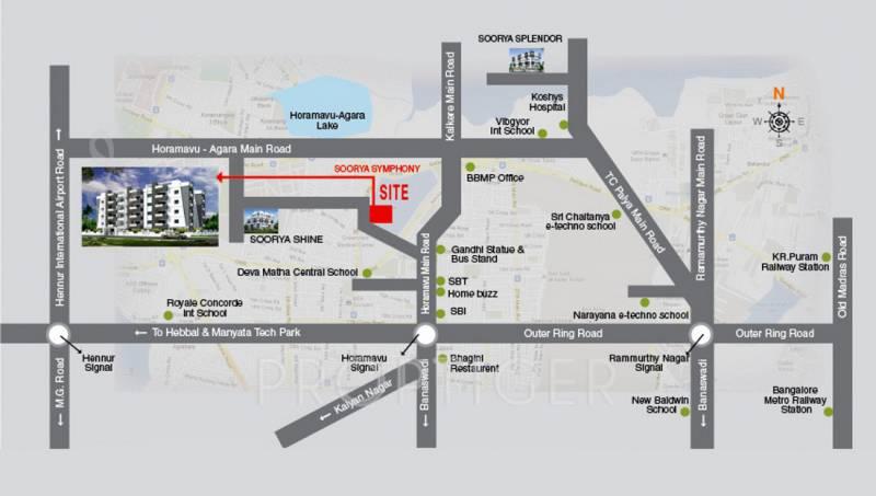 Images for Location Plan of Soorya Soorya Symphony