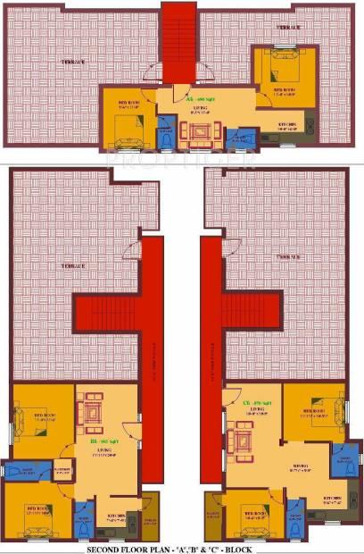 ua-foundation arunachalam Block A, B & C Cluster Plan for 2nd Floor