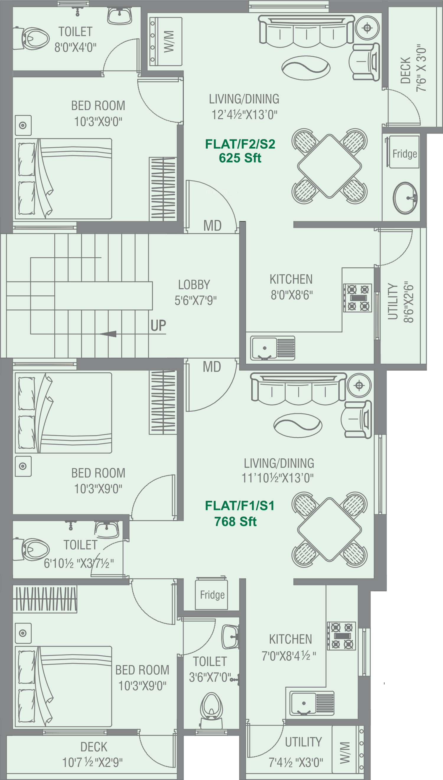 625 sq ft 1 BHK 1T Apartment for Sale in Oyester Homes