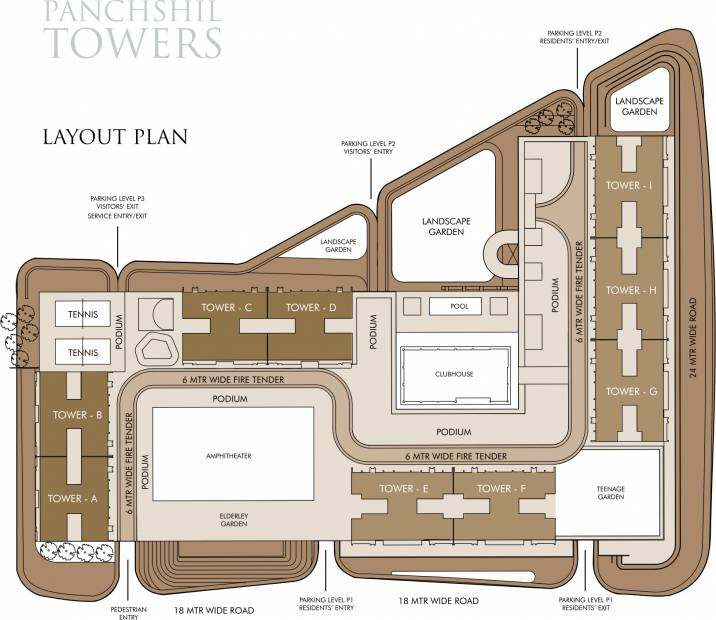 Images for Layout Plan of Panchshil Towers