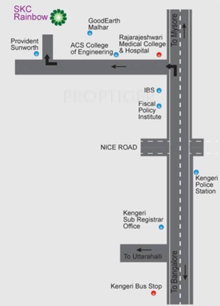 Images for Location Plan of Sri Krishna Constructions India SKC Rainbow