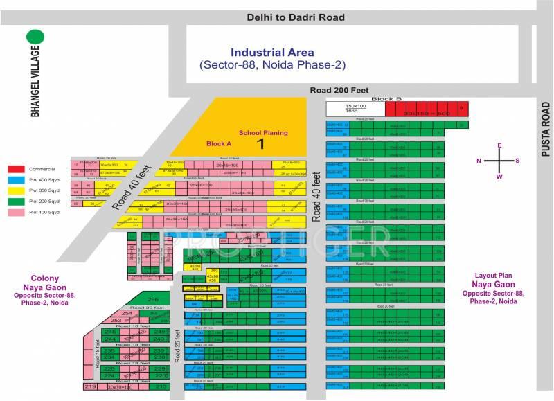 srishti-builders-and-developers naya-gaon Layout Plan