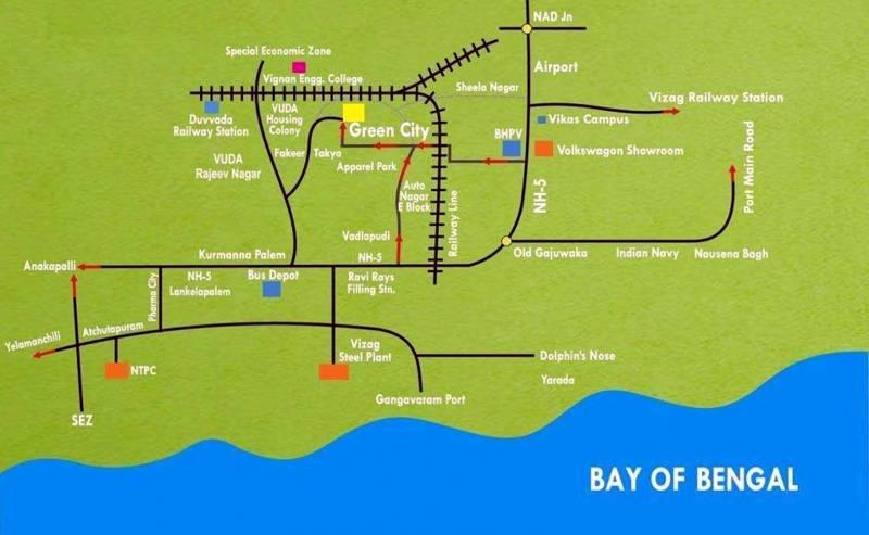 Images for Location Plan of Vizag Profiles Pvt Ltd Green City Villas