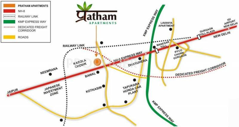 pratham-apartments Images for Location Plan of Vipul Pratham Apartments