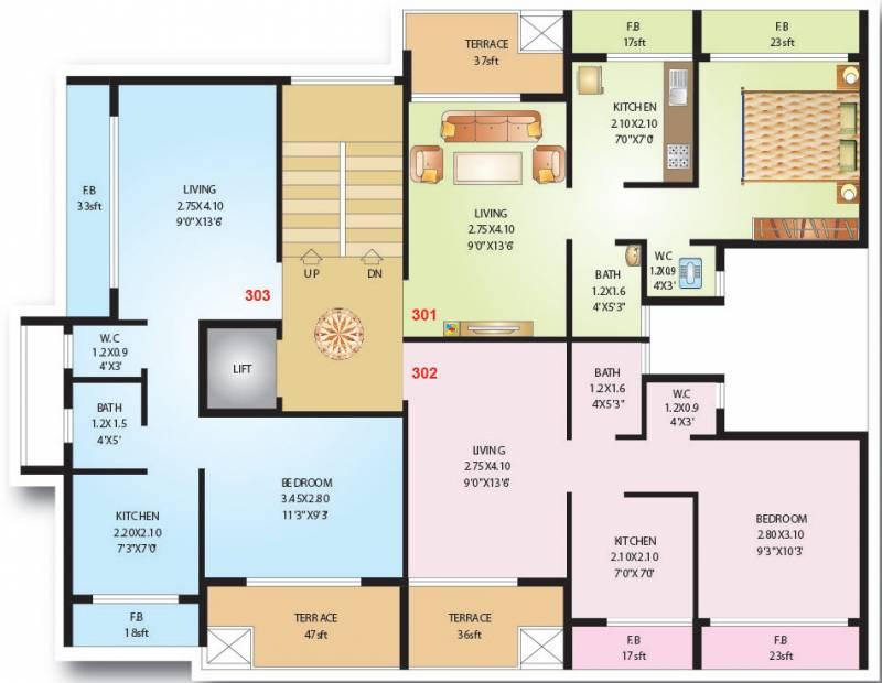 shreeji-constructions niyati Niyati Cluster Plan for 3rd Floor