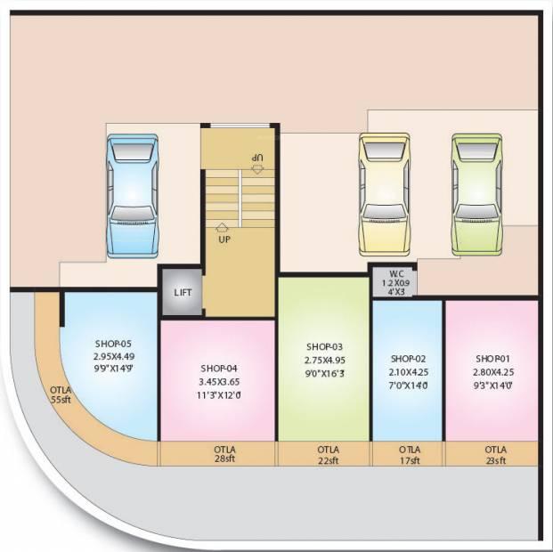 shreeji-constructions niyati Niyati Cluster Plan for Ground Floor