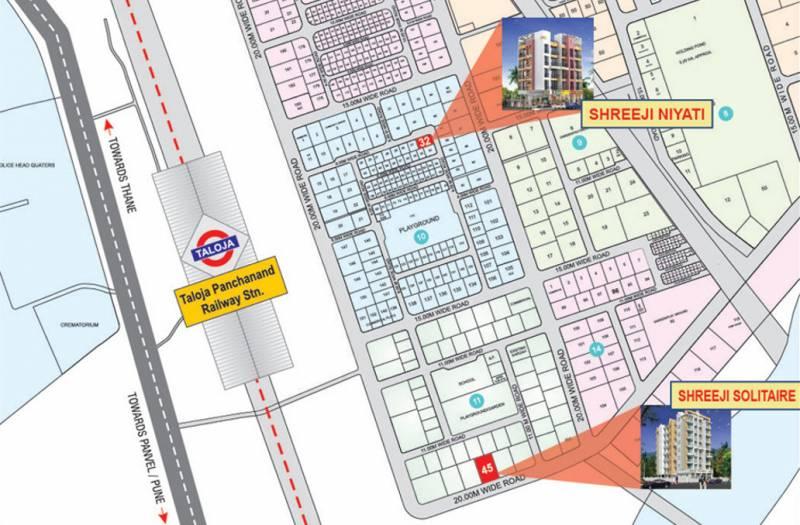shreeji-constructions niyati Location Plan