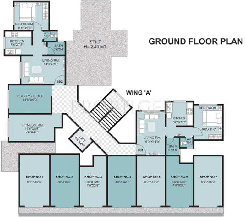 675 sq ft 1 bhk 1t apartment for sale in dalal buildcon for 675 sq ft floor plan