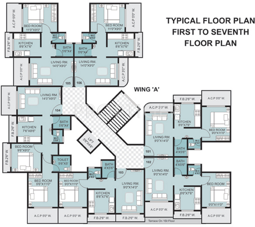 640 sq ft 1 bhk 1t apartment for sale in dalal buildcon for 640 square feet floor plan