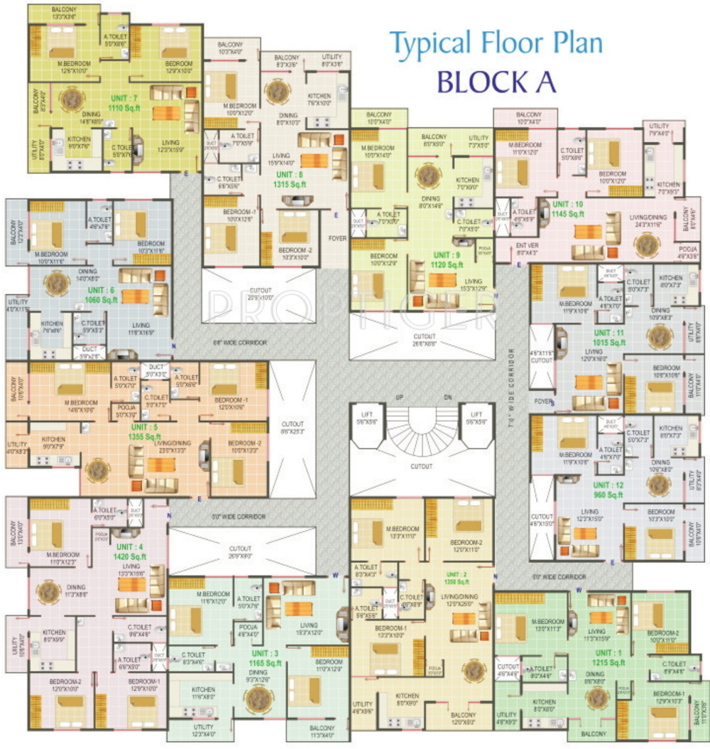 1420 sq ft 3 bhk 3t apartment for sale in dhathri for X2 residency floor plan