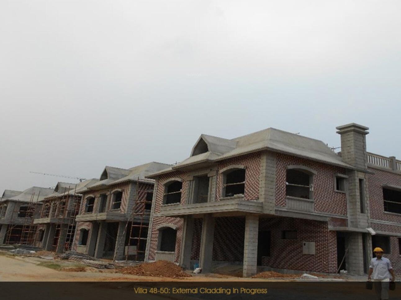 Prestige lakeside habitat villas in varthur bangalore for Construction habitat